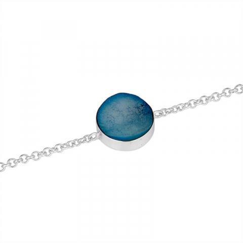 armband i silver med hängen i silver