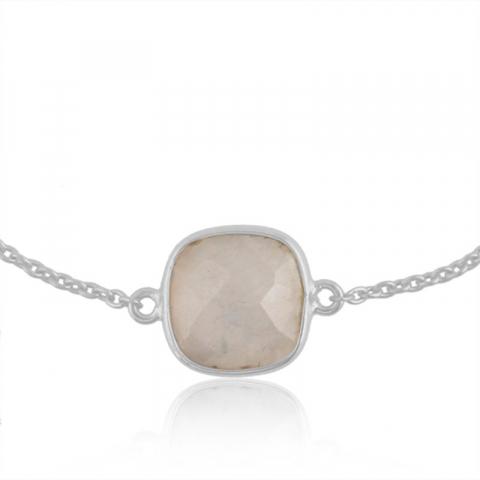 månsten armband i silver med hängen i silver