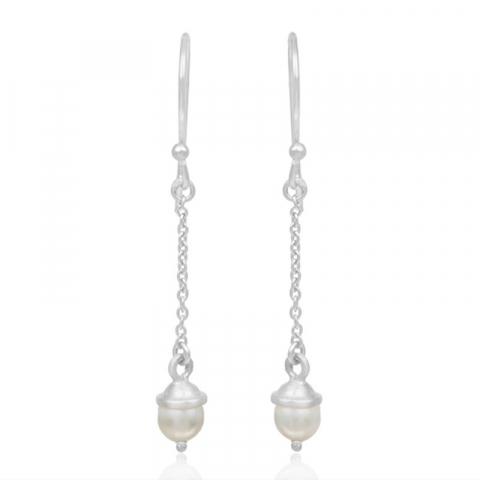 lange øreringe i sølv