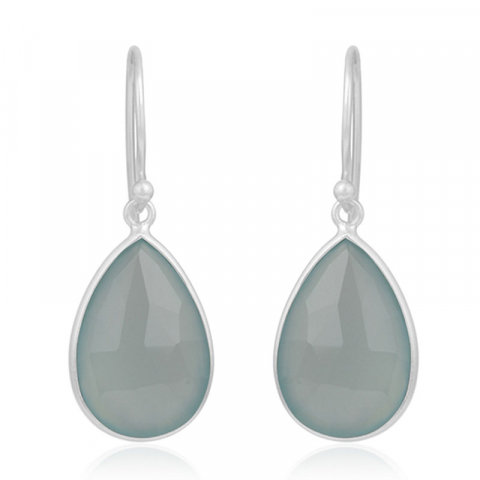 långa droppe örhängen i silver