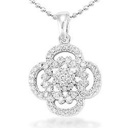 Blommor hängen i silver