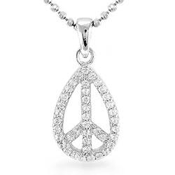Peace hängen i silver