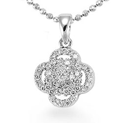 Vackert blommor hängen i silver