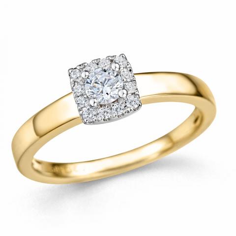 Kollektionsprov diamantring i 14  karat guld- och vitguld