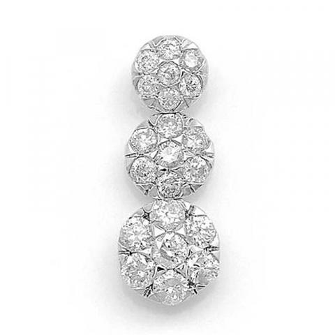 Trendig långt diamantberlocker i 14  carat vitguld 0,37 ct