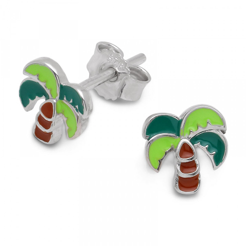 palme ørering i sølv