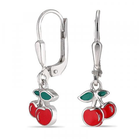 lange kirsebær ørering i sølv