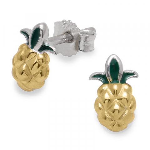 ananas ørering i sølv