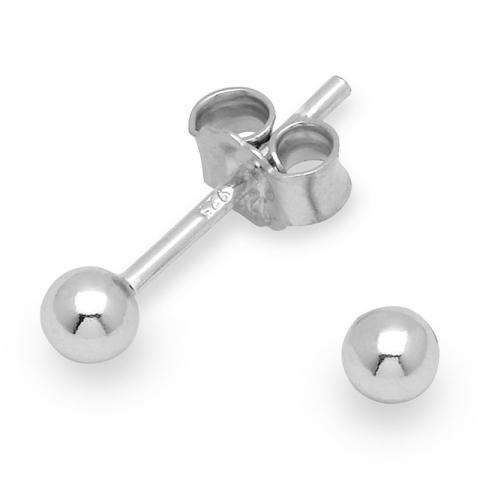 3 mm ørestikker i sølv