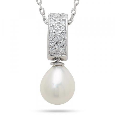 Fint pärla hängen i silver