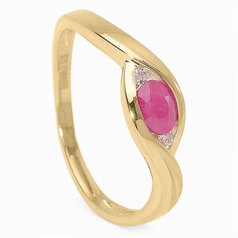 Söt rubin ring i 9 karat guld