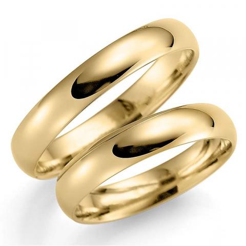Sköna 4 mm vigselsringar i 9 karat guld - set