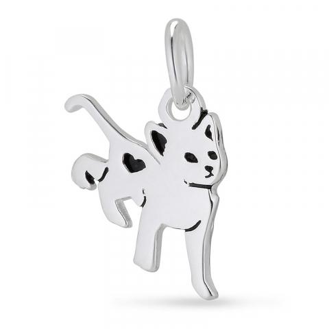 katte vedhæng i sølv