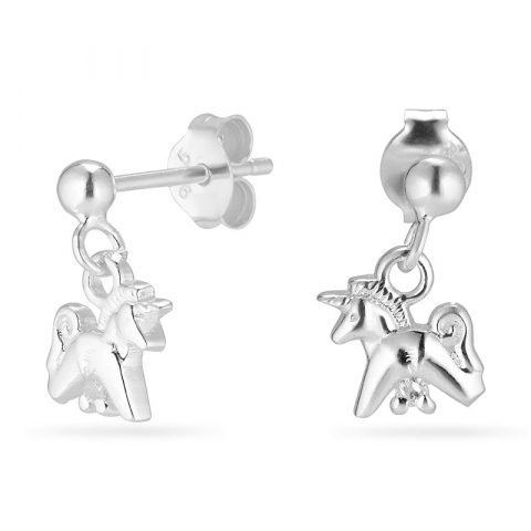 enhjørning øreringe i sølv
