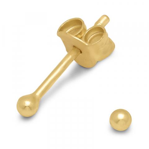 2 mm øreringe i forgyldt sølv