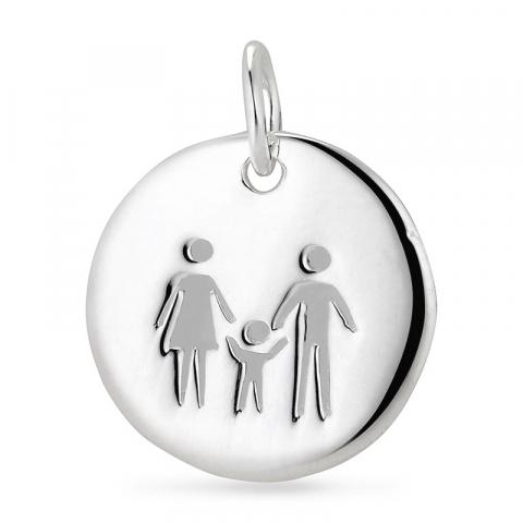 mor og barn vedhæng i sølv