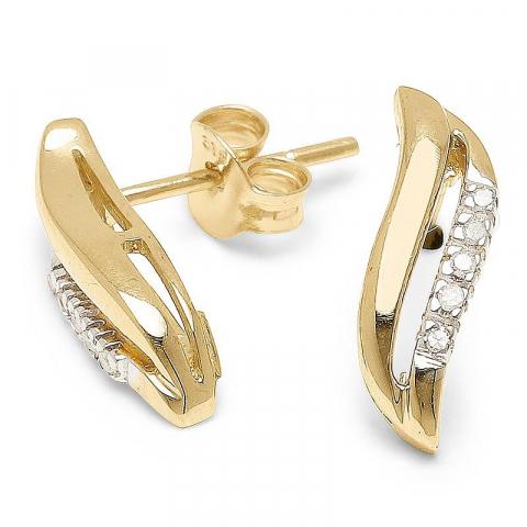 Sköna diamantörhängen i 9 karat guld med diamanter