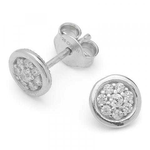Vackra runda örhängestift i silver