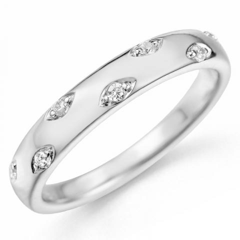 Kollektionsprøve hvidgulds diamantring i 9 karat hvidguld 0,09 ct