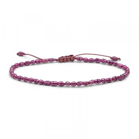 Tunnt rosa pärla armband pärlor med sötvattenspärlor.