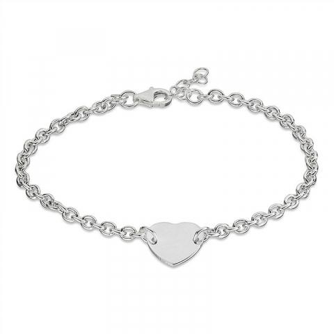 Simpelt hjärta armband i silver