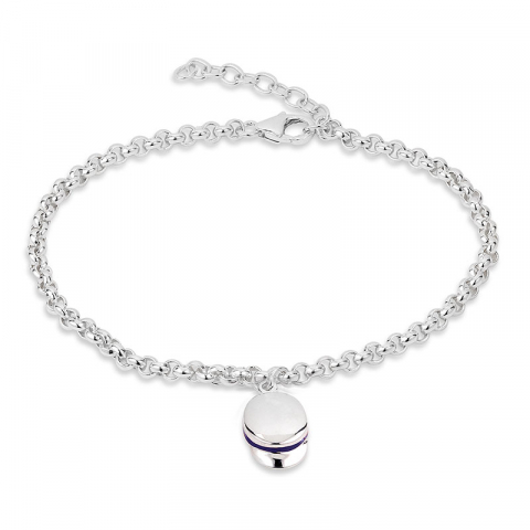 fint armband i silver med studentmösseberlock i silver