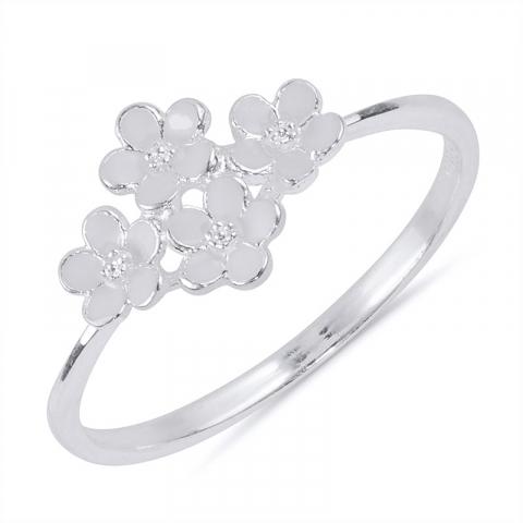söt prästkrage ring i silver