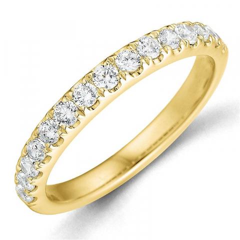 Diamant alliancring i 14  karat guld 0,49 ct