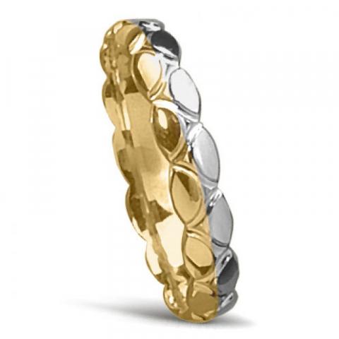 Special vigselsring i 14  karat guld- och vitguld