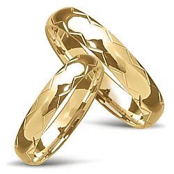 Moderna vigselsringar i 14  karat guld - set