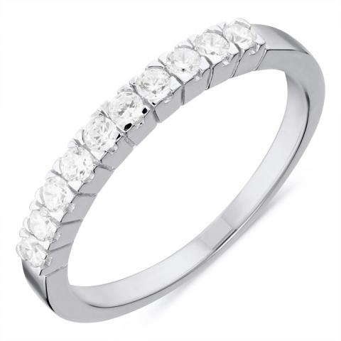 söt ring i rhodinerat silver