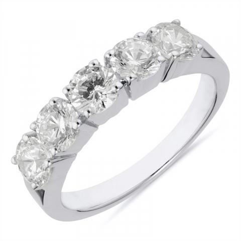 söt silver ring i rhodinerat silver