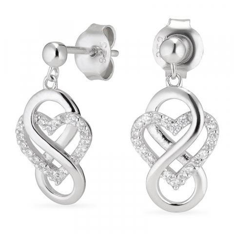 hjärta infinity örhängen i silver