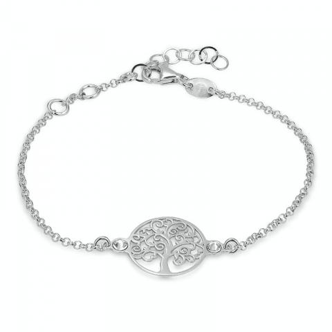 livets träd armband i rhodinerat silver med hängen i rhodinerat silver