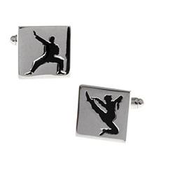 Karate manschettknappar i Rostfritt stål