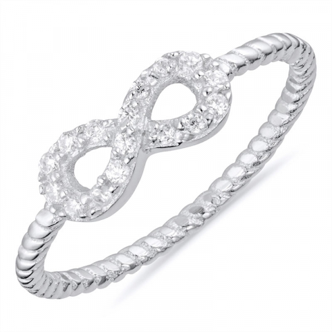infinity ring i silver