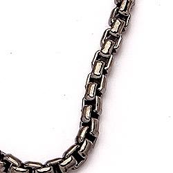 BNH veneziahalskedja i svart rhodinerat silver 70 cm x 2,0 mm