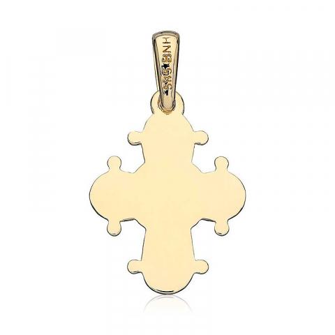 Dagmarkors 13 x 15 mm guld hängen i 14 karat guld