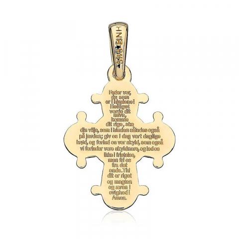 Dagmarkors med fadervår 13 x 15 mm hängen i 14 karat guld