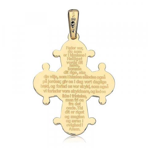 Dagmarkors med fadervår 21 x 25 mm hängen i 14 karat guld