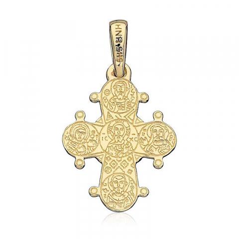 Dagmarkors 13 x 15 mm hängen i 8 karat guld