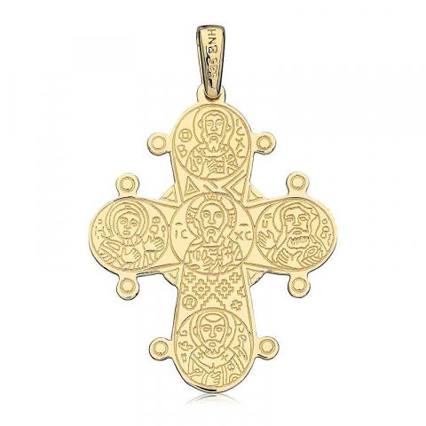 Dagmarkors 25 x 30 mm hängen i 8 karat guld