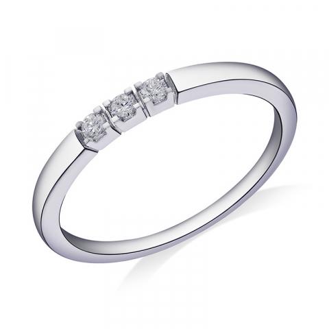 Kollektionsprov diamant vitgulds alliancring i 14  karat vitguld 0,09 ct