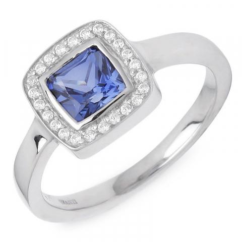 Fyrkantigt ring i silver