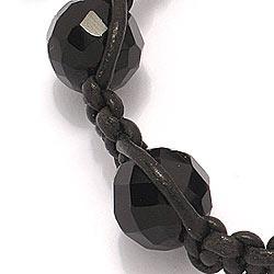 Svart armband i läder