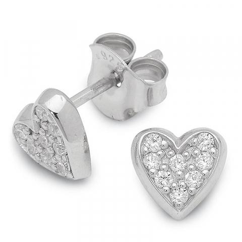 Fina hjärta örhäng i silver