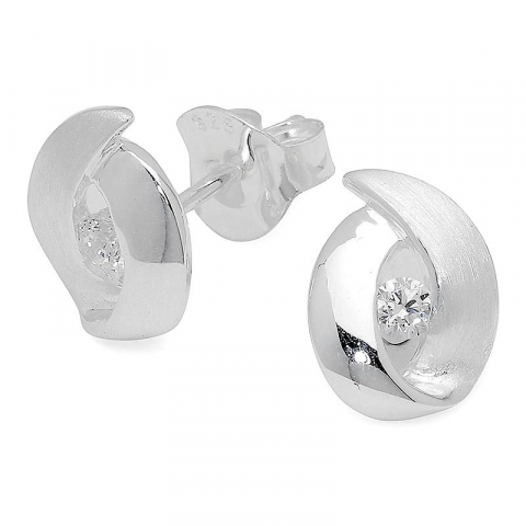Sköna abstrakt örhängen i silver