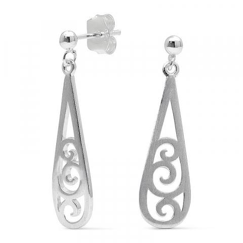 Söta långa örhängen i silver