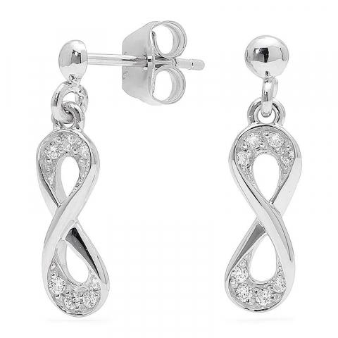 Söta infinity örhängen i silver