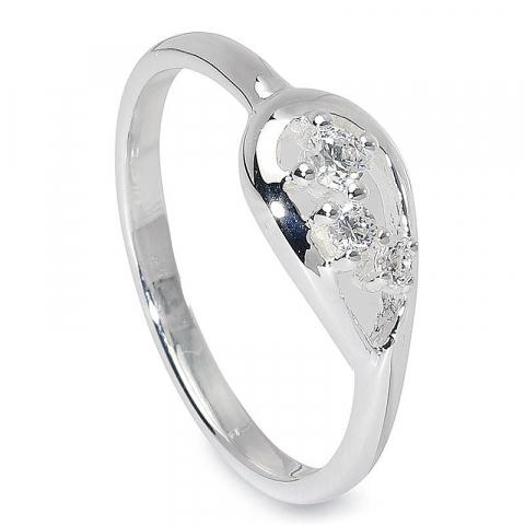 Söt droppe ring i silver
